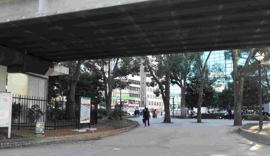 関内駅 植栽スペース